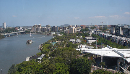 The view from the Wheel of Brisbane